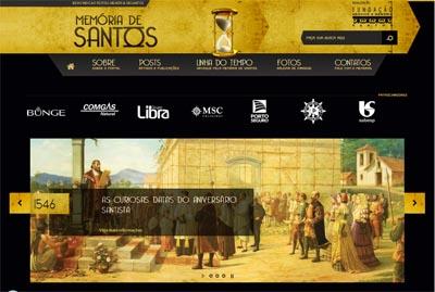 Portal da FAMS resgata a memória de Santos, 470 anos