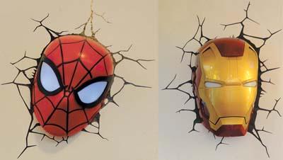 Iluminando com super-heróis
