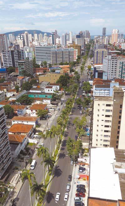 Avenida Ana Costa: visão do terraço panorâmico
