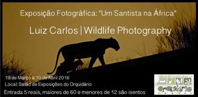"""Orquidário de Santos abriga exposição """"Um Santista na África"""""""