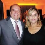Ademar Salgosa Junior, presidente reeleito, e esposa Maria de Lourdes Silva Salgosa