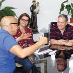 Lindalva e Ângelo José da Costa Filho, secretário de Infraestrutura e Edificações da Prefeitura de Santos