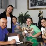 Afilhados Tatiana Puline e Matheus, sobrinhas Andréia e Adriana