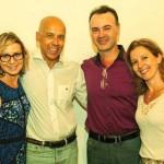 Com Sandra e o casal amigo Aciole e Cláudia