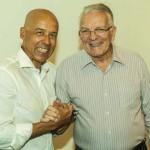 Com padrinho Roberto Luiz Barroso, presidente da Casa da Esperança de Santos