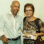 Com a cunhada Angela Freire