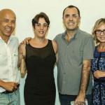 Com Sandra Netto, recepcionando o casal Giovanni e Paula