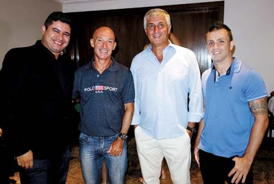 Flávio, Valmir, Toninho e Moledas