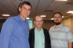 Profissionais da Sabesp: Willian, Edu Godoy e Juarez Pereira de Sá