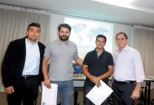 Tiago Garcia, Marcelo Fontoura, Antonio Linhares e Roberto Carvalho