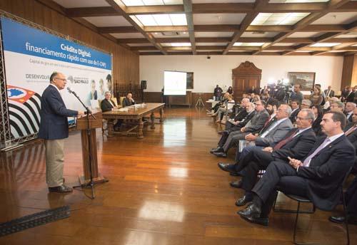 Alckmin lança crédito rápido e sem burocracia para pequenas empresas