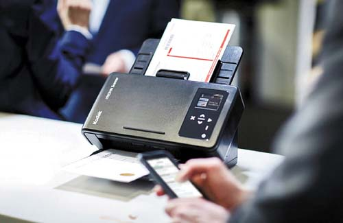 Scanners com registro sustentável