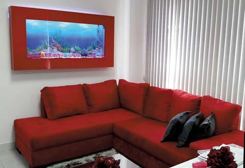 Decorando com aquário de parede