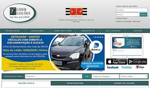 Apenas online, Detran.SP leiloa 528 veículos em Santos