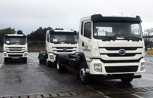 Brasil recebe caminhões elétricos