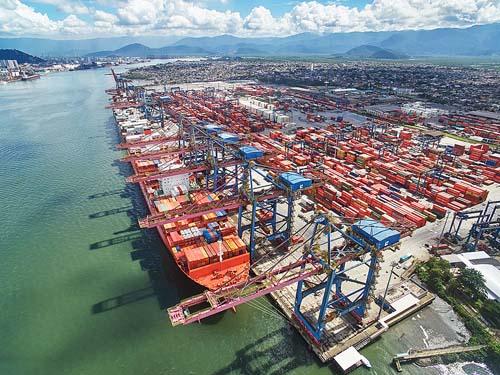 Tecon Santos ampliará terminal na margem esquerda do porto