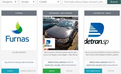 Detran.SP leiloará amanhã 186 veículos em São Vicente