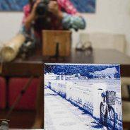 Fotografias sobre azulejos