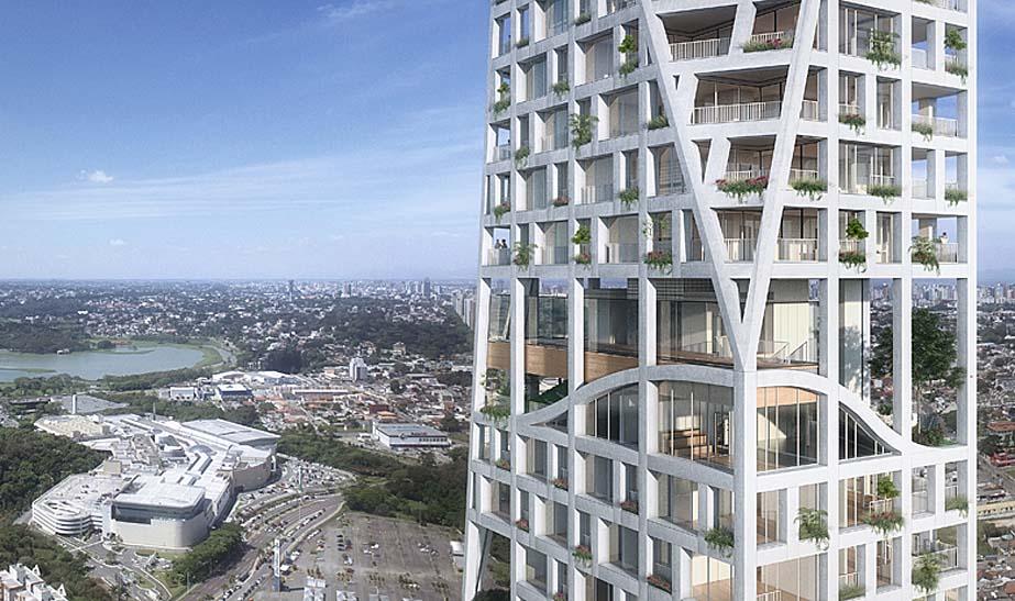 Empreendimento em Curitiba será um dos 20 prédios mais altos do país