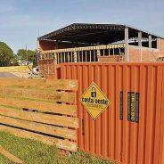 Minicontainer previne contra furtos em obras