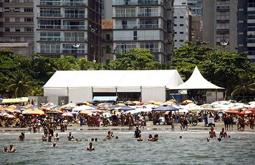 Programação das tendas da orla de Santos começa na quinta-feira