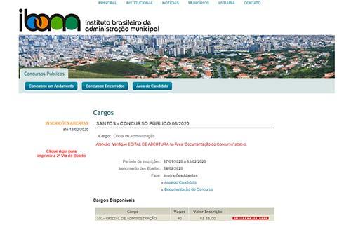 Prefeitura de Santos promove concurso com 124 vagas em 19 cargos