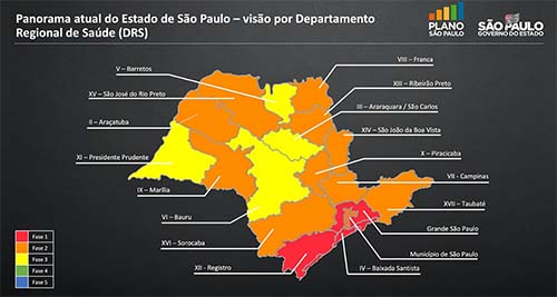 São Paulo apresenta plano de retomada da economia a partir de 1º de junho