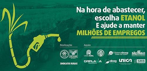 Entidade defende uso do etanol