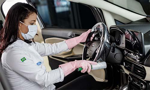 Ford atua na desinfecção