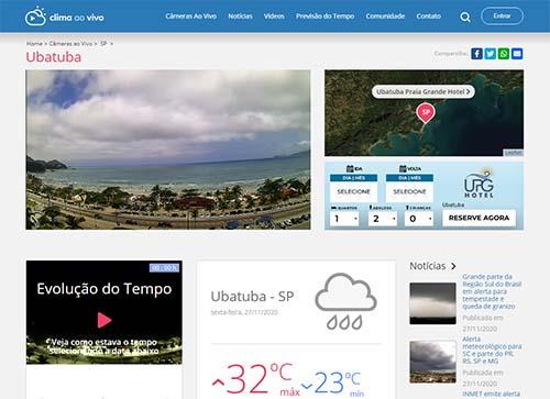 Ubatuba ganha câmera online de monitoramento climático