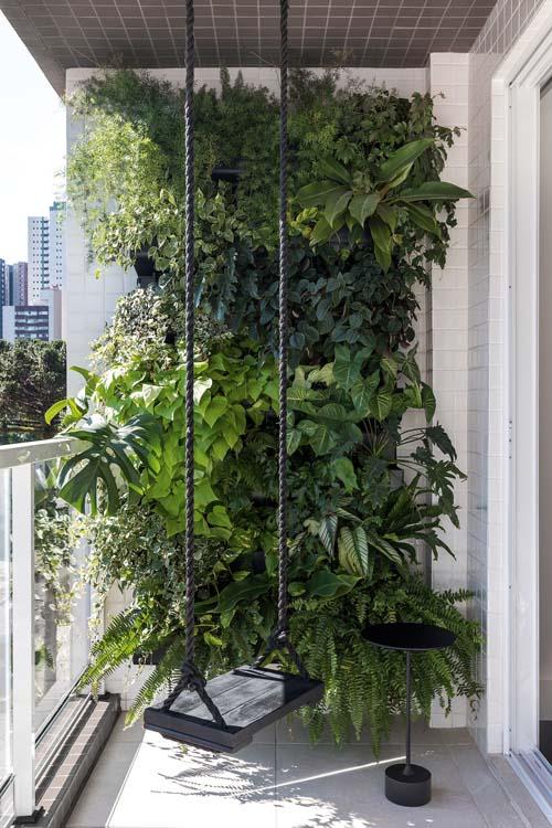 Um jardim vertical no seu projeto