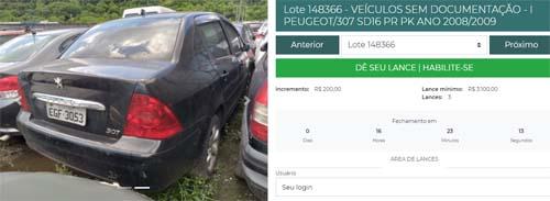 Detran.SP leiloa hoje online mais de 450 veículos em Santos