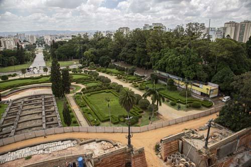 Museu do Ipiranga inaugura mirante para as obras de restauração