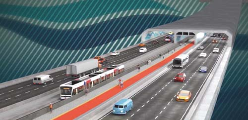 Túnel ou ponte entre Santos e Guarujá?
