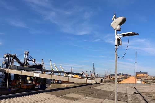 Estação meteorológica no porto de Paranaguá informa clima em tempo real