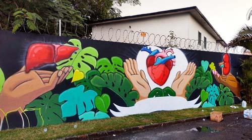 Grafites chamarão atenção para doação de órgãos em Santos