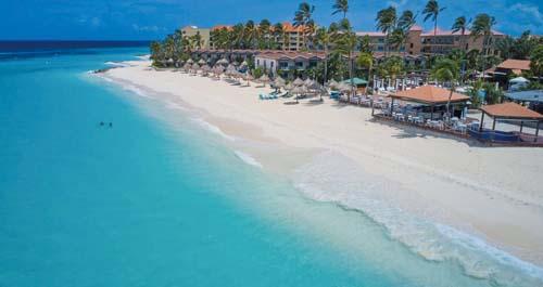 Praias paradisíacas no Caribe